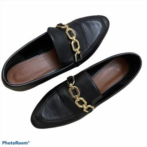 H&M Black Pointed Flat Loafers EU 39 or US 8